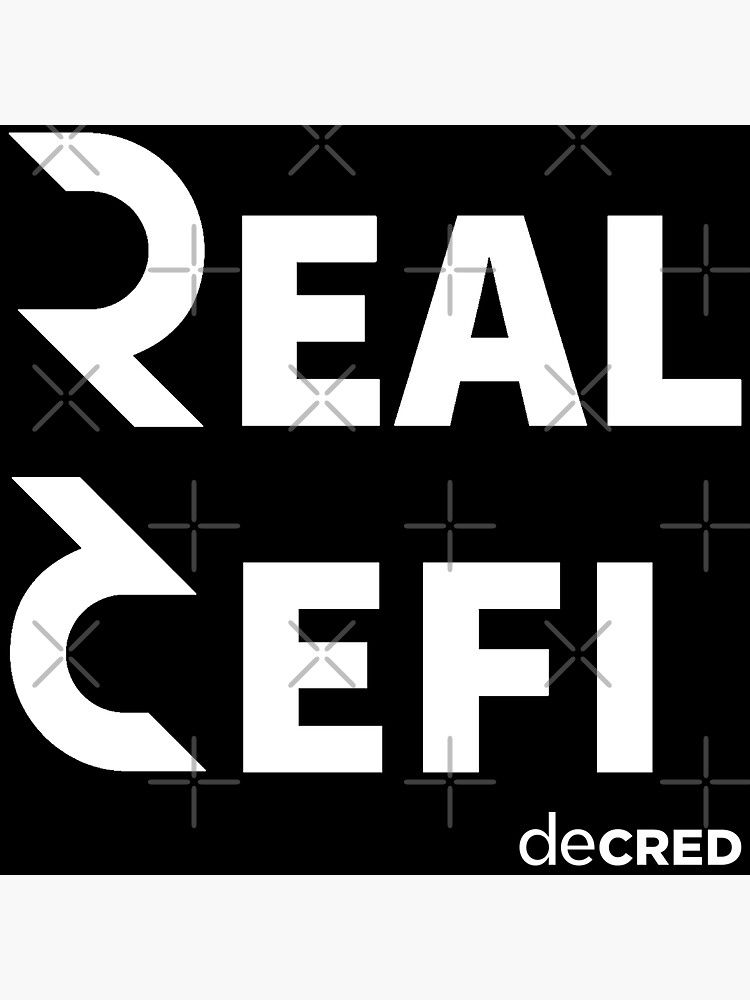 (sticker) Decred Real Defi ™ v3 'Design timestamped by https://timestamp.decred.org/' by OfficialCryptos