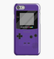 Gameboy Color - Purple iPhone Case/Skin
