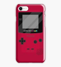 Gameboy Color - Red iPhone Case/Skin
