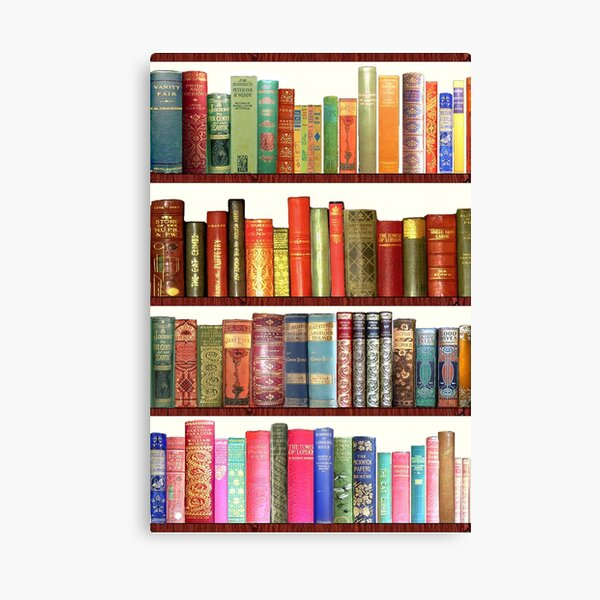 Jane Austen Antique Books Canvas Print