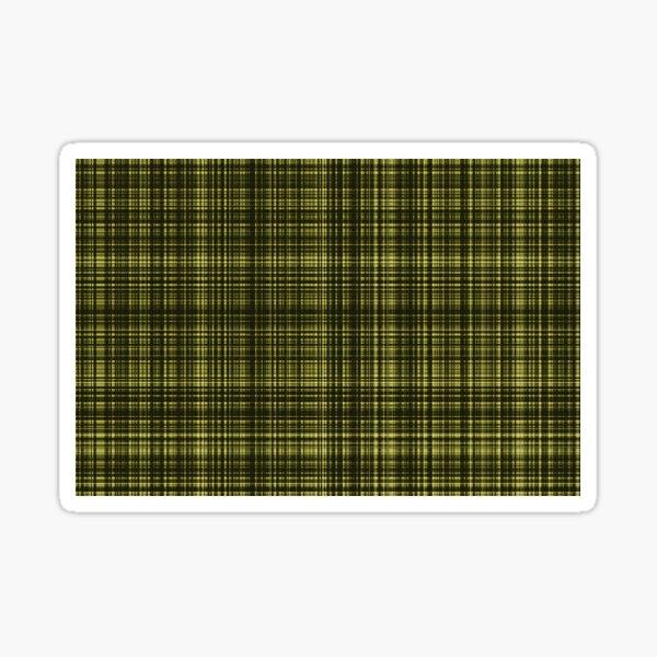 Yellow Scottish Pattern Sticker