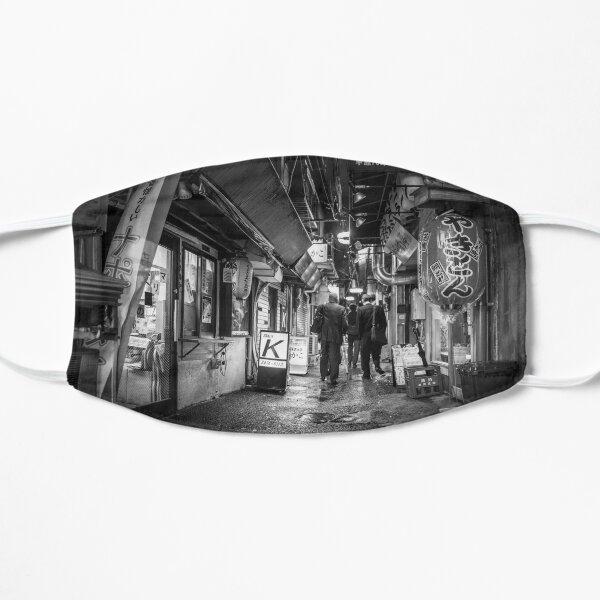 Black and White Tokyo bar alley monochrome Flat Mask