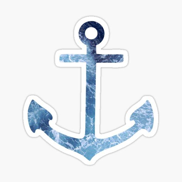 Crashing Waves Anchor Sticker