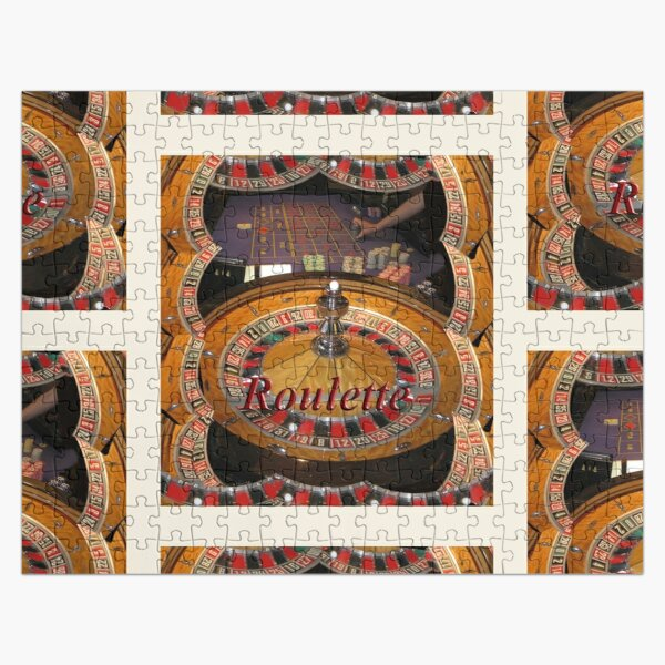 casino roulette wheel and table Jigsaw Puzzle