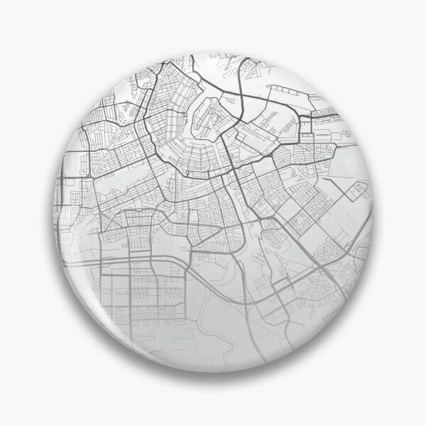 Amsterdam Map Print with Coordinates Pin