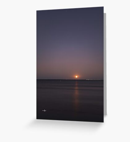 Moon Rise Over Geographe Bay Greeting Card