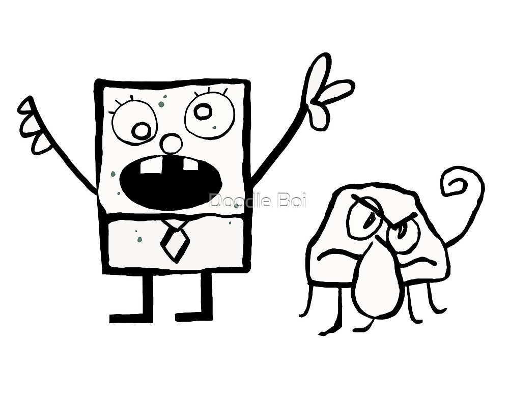 Quot Doodlebob And Squiddle Quot By Tristan Leung Redbubble
