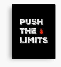 Push The Limits - Typography Canvas Print