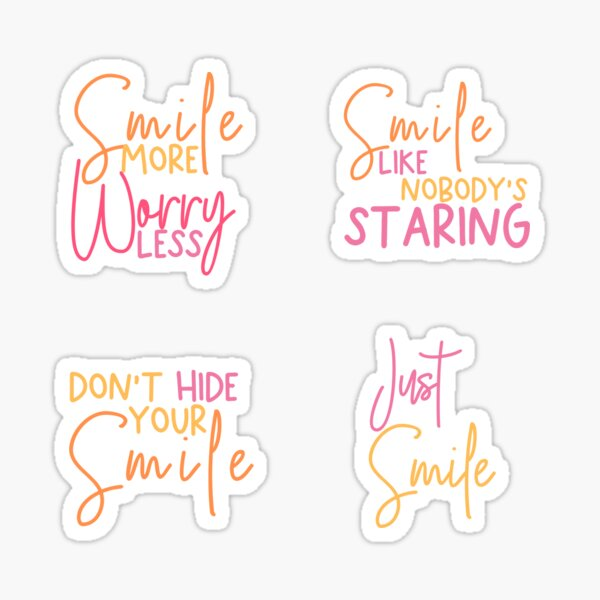 Smile Stickers Pack | ORDER A MEDIUM OR LARGE Sticker Sticker