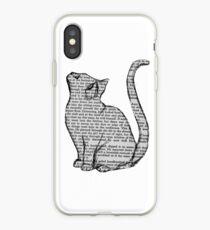 Vinilo o funda para iPhone libros y gatos y libros y gatos