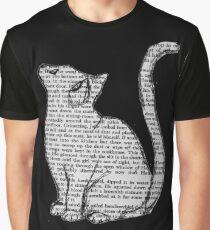 Bücher und Katzen und Bücher und Katzen Grafik T-Shirt