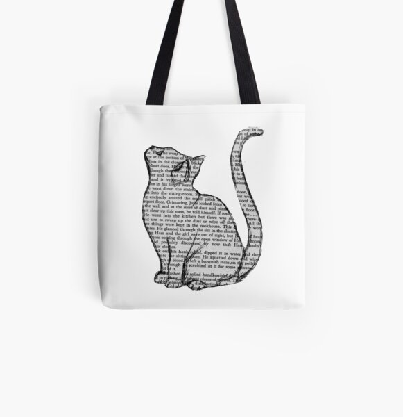 books and cats and books and cats All Over Print Tote Bag