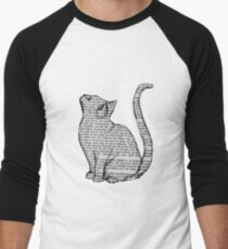 books and cats and books and cats Men's Baseball ¾ T-Shirt