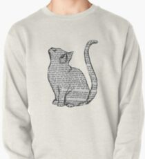 books and cats and books and cats Pullover