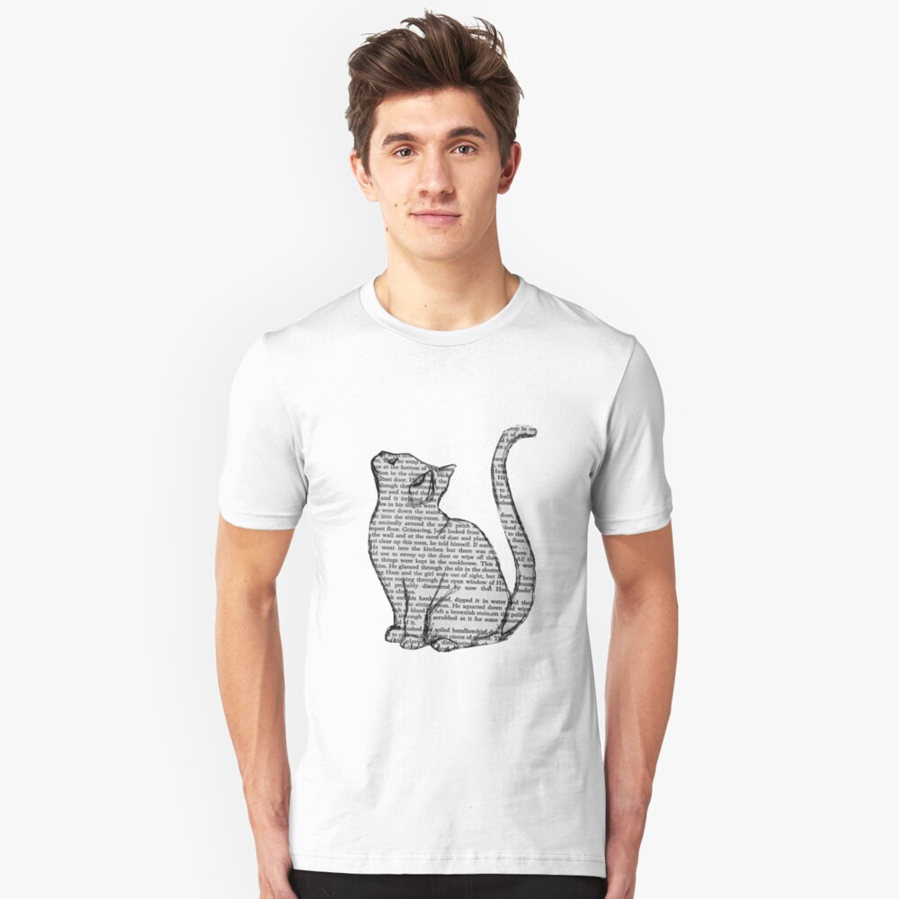 books and cats and books and cats Slim Fit T-Shirt