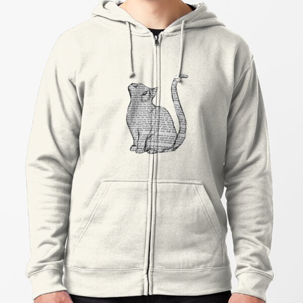 books and cats and books and cats Zipped Hoodie