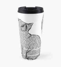 books and cats and books and cats Travel Mug