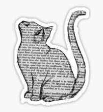 Pegatina libros y gatos y libros y gatos