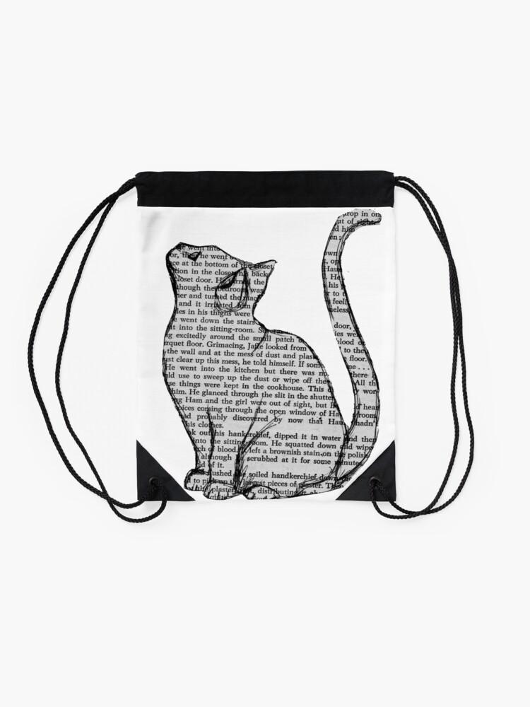 Alternative Ansicht von Bücher und Katzen und Bücher und Katzen Turnbeutel