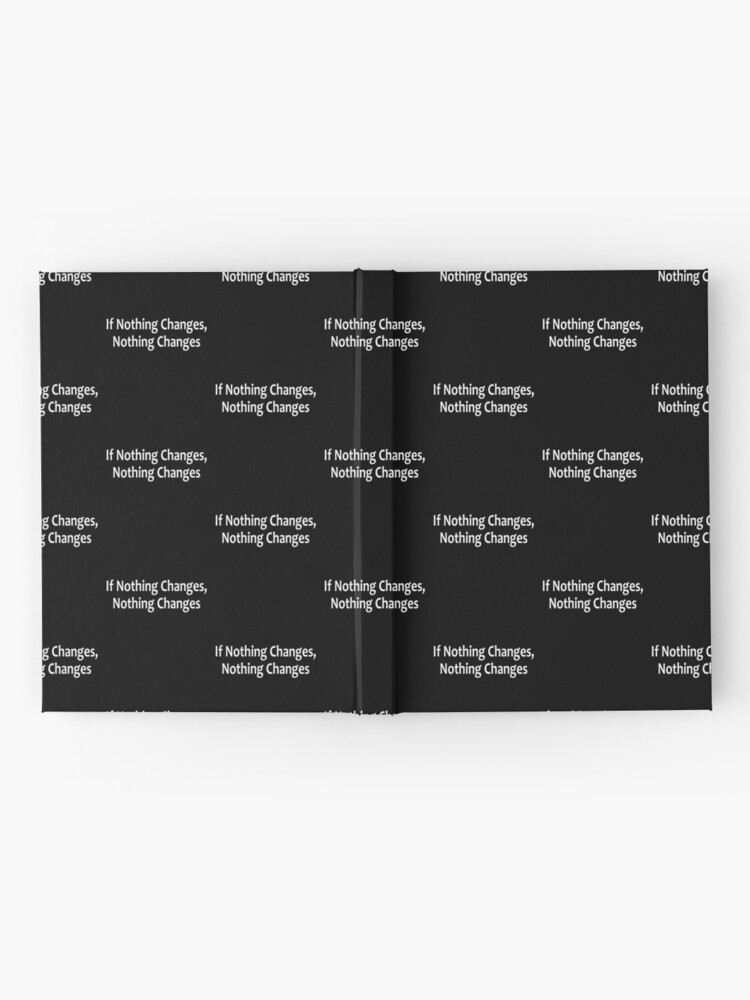 Alternate view of If Nothing Changes, Nothing Changes  - AA Saying Hardcover Journal