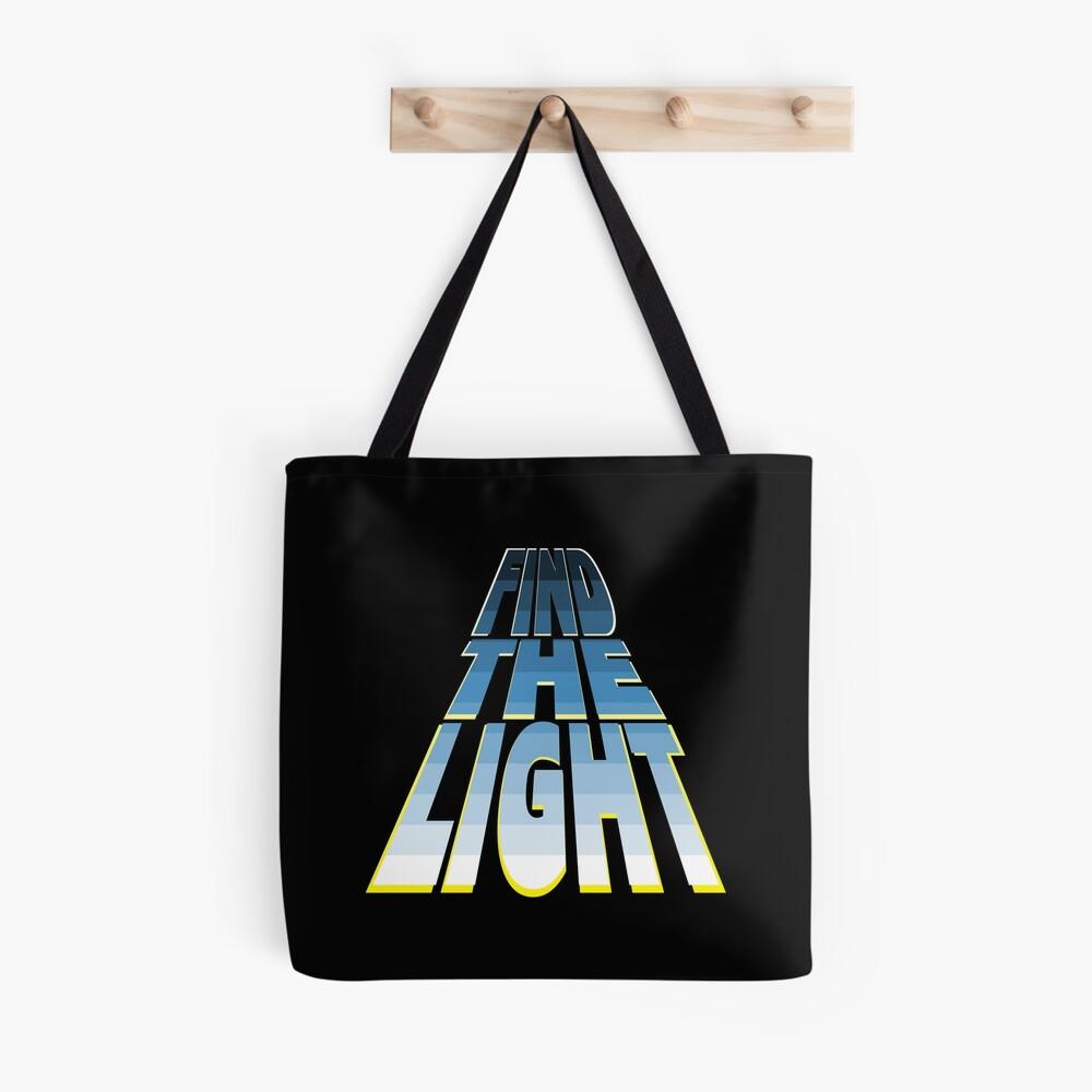 Find the Light - Blue. Tote Bag
