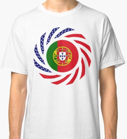 Portuguese American Multinational Patriot Flag Series Classic T-Shirt
