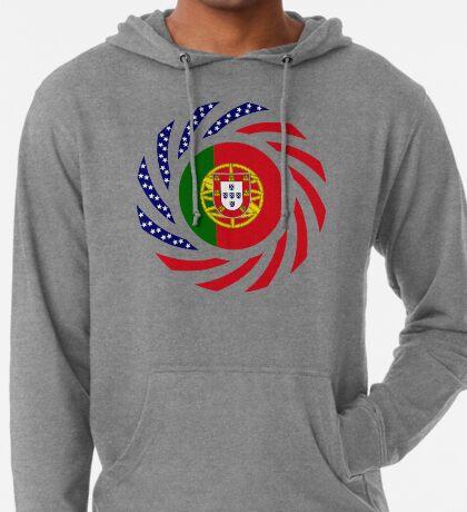 Portuguese American Multinational Patriot Flag Series Lightweight Hoodie
