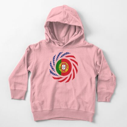 Portuguese American Multinational Patriot Flag Series Toddler Pullover Hoodie