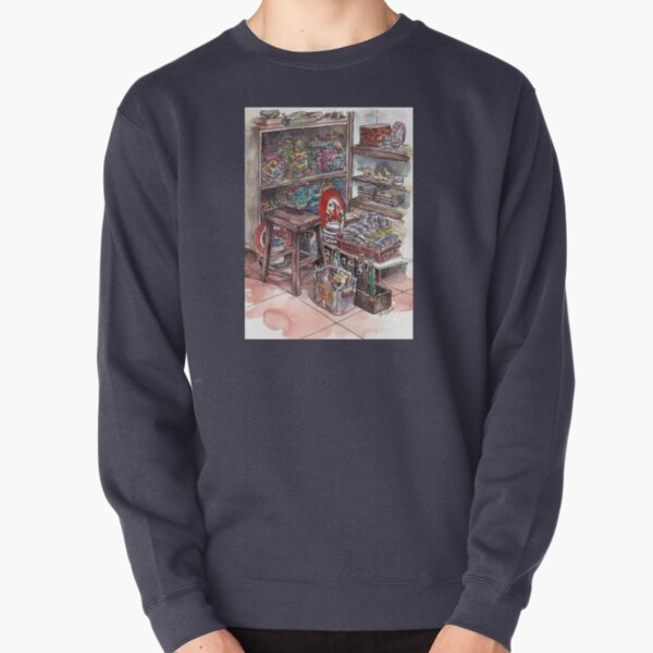 Antique Shop in Melaka Pullover Sweatshirt