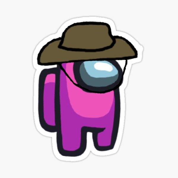 sombrero vaquero rosa Pegatina