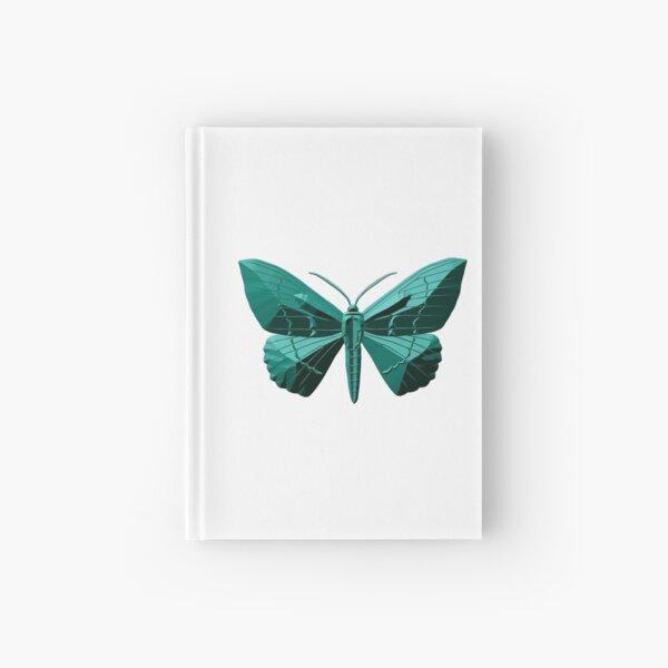Green butterfly Hardcover Journal