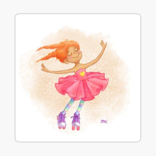 Lil' Miss Rollerskates Sticker