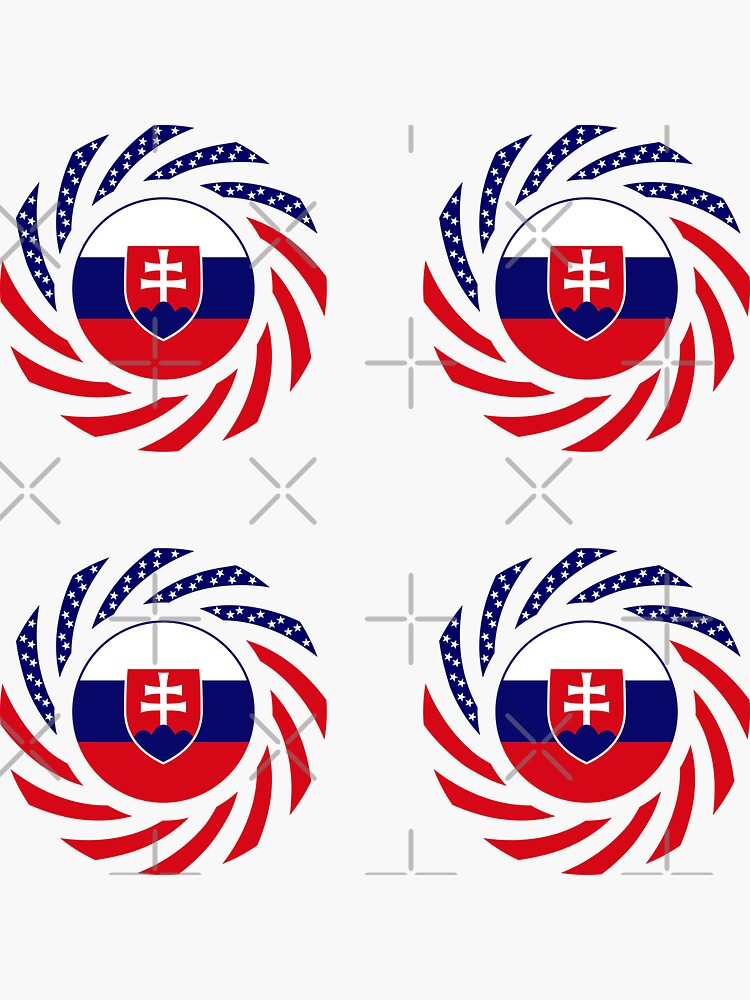 Slovakian American Multinational Patriot Flag Series by carbonfibreme