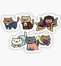 Hamilton Characters as Neko Atsume Cats Sticker