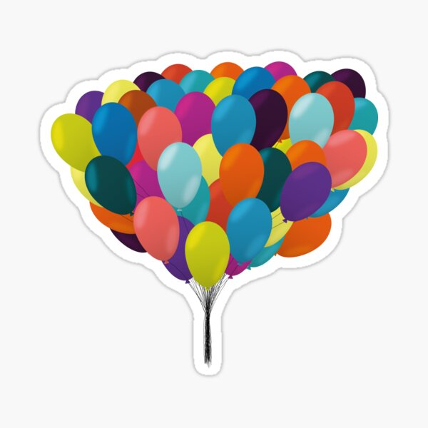 So Many Balloons Sticker