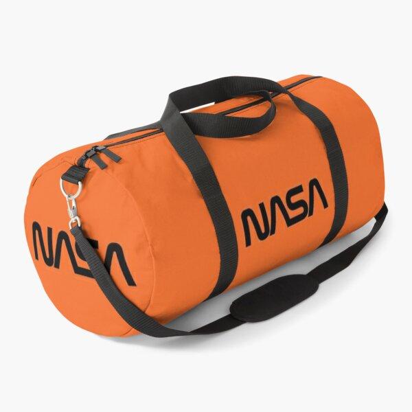 NASA WORM LOGO ORANGE Duffle Bag