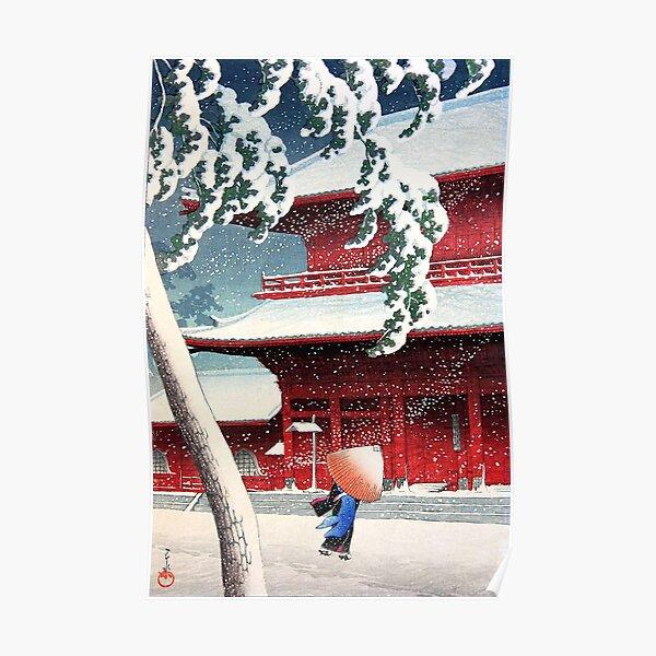 Kawase Hasui - Zojoji Temple in Snow Poster