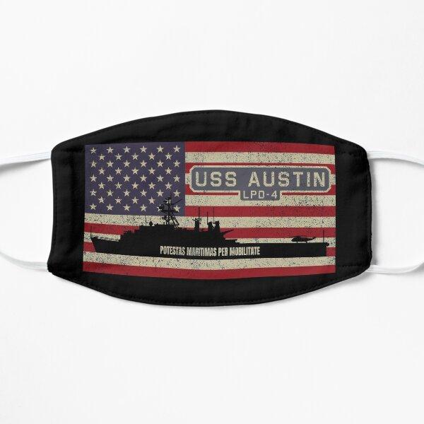 USS Austin LPD-4 Amphibious Transport Dock Ship Vintage USA  American Flag Gift Mask