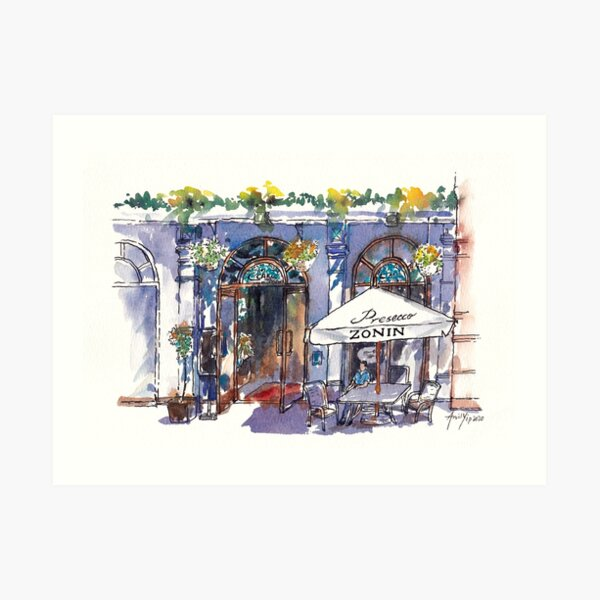 Sunny Afternoon at an Outdoor Cafe Art Print