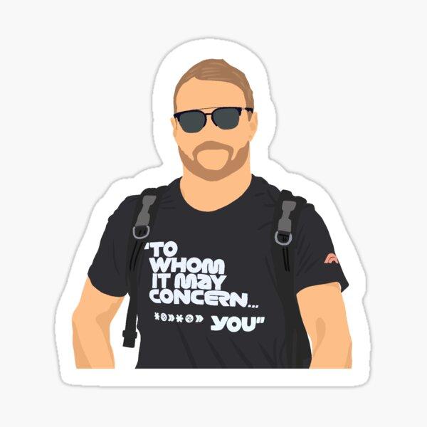 Valtteri Bottas portant sa chemise `` À qui cela peut concerner, *** you '' Sticker
