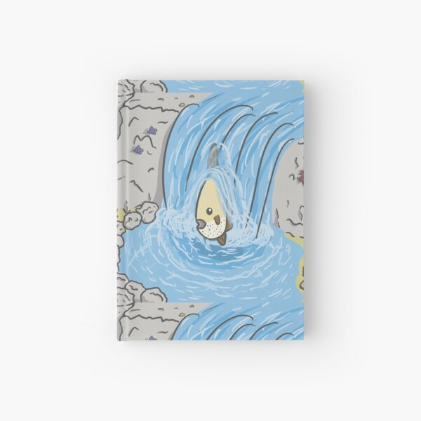 Mola Mola in a waterfall Hardcover Journal