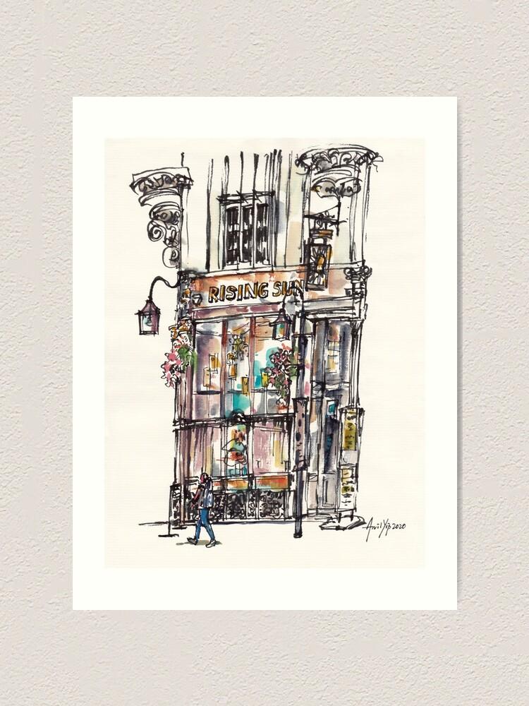 Alternate view of Rising Sun Shop Art Print