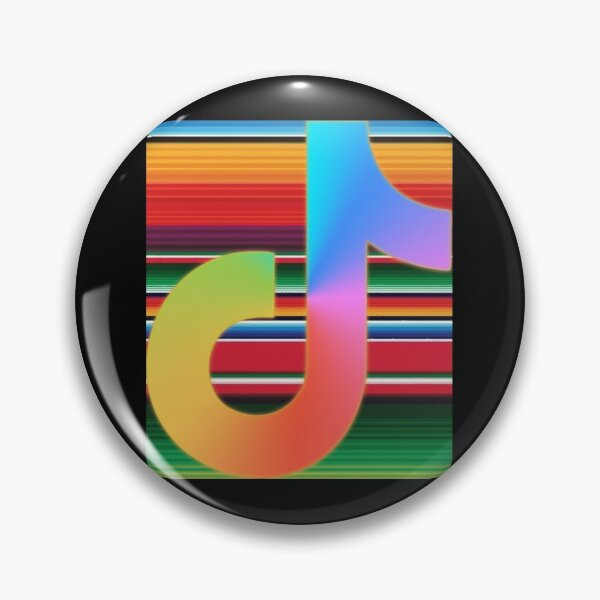 Aesthetic Tik Tok Logo Pins and Buttons | Redbubble