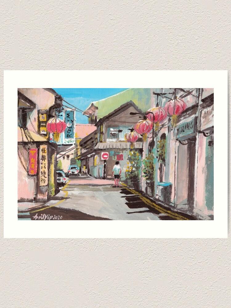 Alternate view of Melaka Old Town Art Print