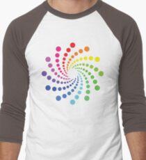 Circular Spectrum Pattern Men's Baseball ¾ T-Shirt