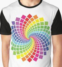 Circular Spectrum Pattern Graphic T-Shirt