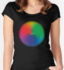 Geometric Design - Color Spectrum Multiply Women's Fitted Scoop T-Shirt