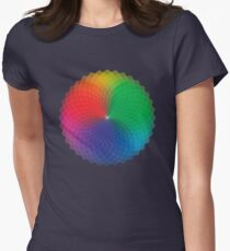Geometric Design - Color Spectrum Multiply Womens Fitted T-Shirt