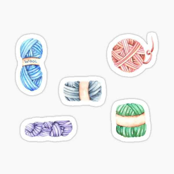 Colorful Yarn Stickers Pack Sticker