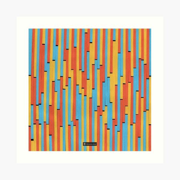 Paper Stripes - Color variation 1  Art Print